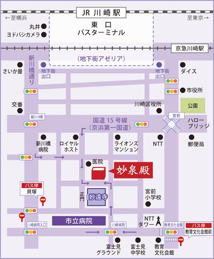 妙遠寺の地図